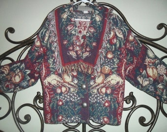 Painted Pony Tapestry Vintage jacket made in San Antonio Texas
