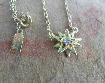 Vintage Gold Double Star Tammey Jewels Necklace
