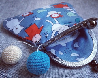 Meet The Gang-Friends Blue Coin Purse with Clasp Lock Frame