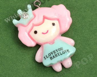 1 - Princess Baby Cute Kawaii Resin Pendant Love Charm (4-3F)