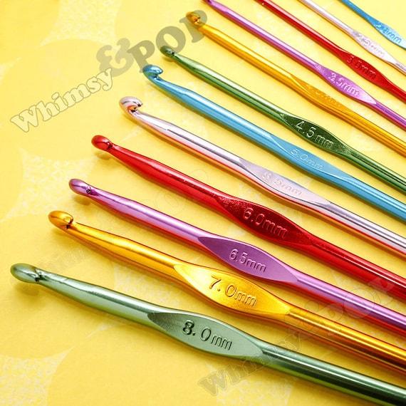 12 - Crochet Hook Set, Crochet Hooks, Crochet Needles, Crochet Knitting, Aluminum, 2.0mm - 8.0mm (C1-05)