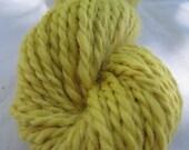 Handspun Alpaca Osage Orange Yarn - 135 yards