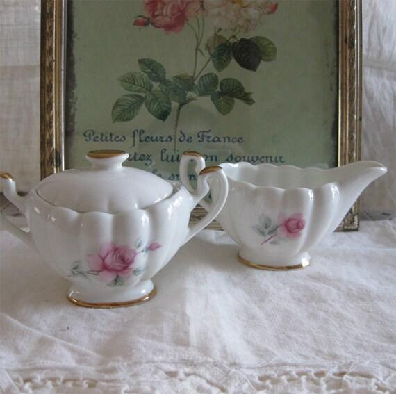 Cream & Sugar // Royal Dover Pink Rose // Vintage