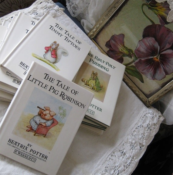Small Collection of Beatrix Potter Books - Vintage - Original Editions