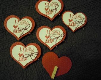 Valentine Be Mine Homemade Dog Hang Tags