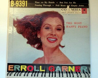 Jazz Piano Erroll Garner The Most Happy Piano 45rpm Vintage Record  Swing