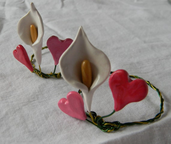 Loving You, Mother's Day napkin rings with sculpted embellishment, set of 2