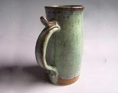 Streaky Bluish Green Mug / Stein / Cup