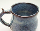Frosted Blue Mug with Thumb Rest