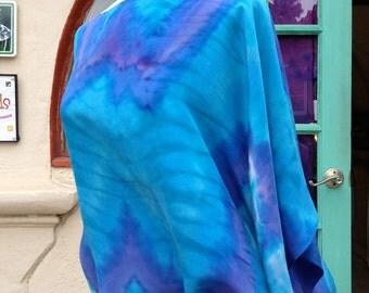 Poncho Blouse Pre-Sewn Dye-Ready Silk Garment Kit