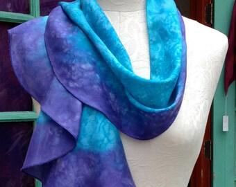 Swirl Scarf Pre-Sewn Dye-Ready Silk Scarf Kit