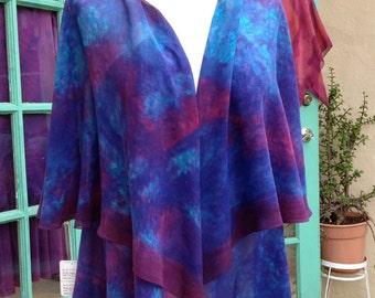 Circle Cape Pre-Sewn Dye-Ready Silk Garment Kit
