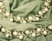 Vintage Sarah Coventry Gold, Pearl & Crystal Rhinestone Parure: Bracelet, Necklace