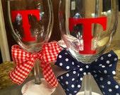 Texas Rangers Wine Glass