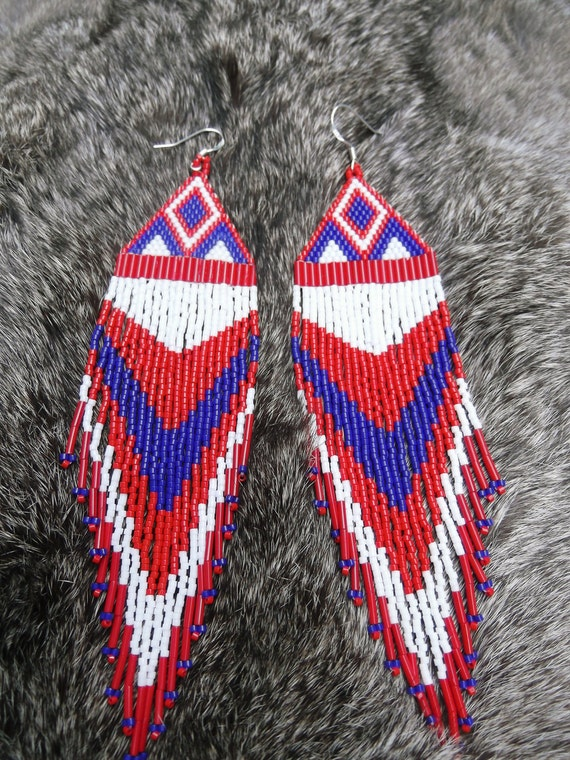 Beautiful Native American Style Beaded Earrings