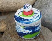 Upcycled Stash Jar with Rhinestone Top