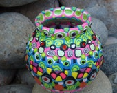 Upcycled Glass Bowl Transformed by Clay Mosaic