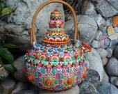Upcycled Ceramic Teapot - Papa Bear