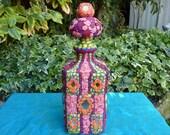 "Upcycled Carafe Decanter - ""Arabian Nights"""