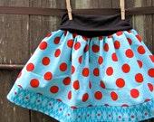 girls skirt - sophie's yoga-top in sugar dots