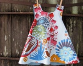 reversible top / dress - baby, toddler - piper jane's pinafore - size 6 - 9 months or 12 - 18 months - summer totem & xo