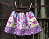 Sophie's Yoga-top Skirt, made to order, sizes 6 months to 10 years - Heirloom Amethyst & Sky