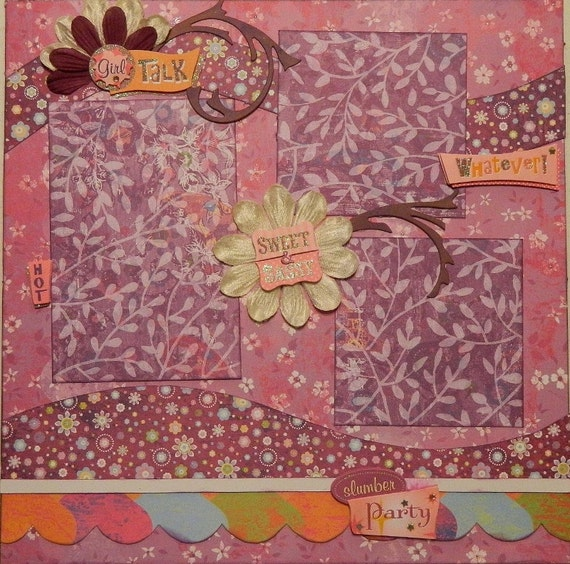 Girls - 12x12 Premade 2 Page Layout