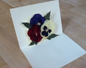 Mother's Day Card - big Pansies and green Japanese Maple