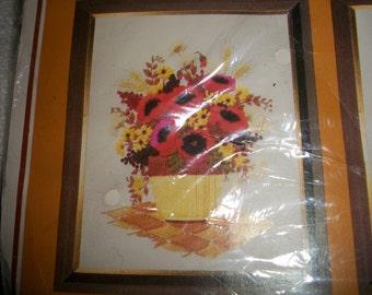 Poppies Crewel Embroidery Stitchery Kit