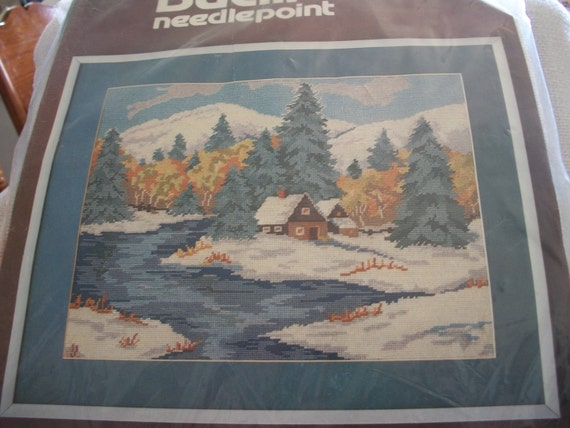 Winter Wonderflan Needlepoint Embroidery Kit: Comes with Yarn, Canvas & Directions