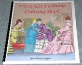 Coloring Book for Girls Christmas Tea Party Antique Victorian Images