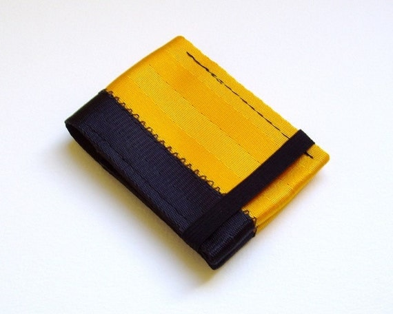Credit card holder, seatbelt wallet with elastic band