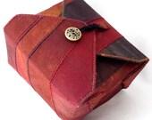 Fabric Box, Burgundy, Handmade, Jewelry Cosmetics Box