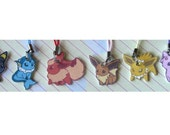 Eevee Pokemon Eeveelutions Phone Charm SET