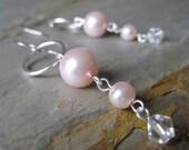 Pink Pearl Bubble Earrings