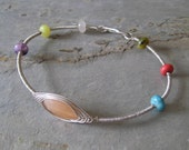 Sterling Silver Wire Wrapped Bangle Bracelet