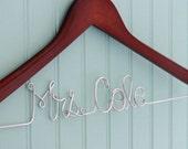 Custom Name Wedding Gown Bride Groom Name Hanger GREAT SHOWER GIFT