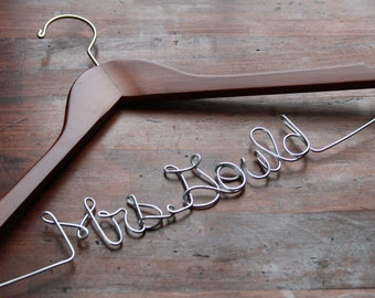 Wedding Gown Dress Hanger with Custom Name