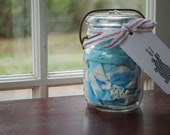 10 Vintage Aprons in Mason Jar -Wedding/ Hostess / Shower / Bridesmaid Gift -