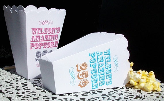 15 Personalized Custom Popcorn Boxes Weddings Favors