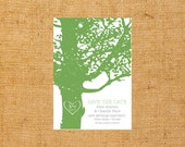 y loves oak trees wedding scratch off save the date SAMPLE