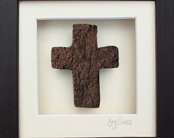 Irish Cross -  Wonderful Gift  - Hand Made in Ireland from Real Irish Turf