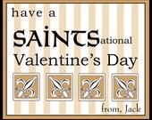 New Orleans Saints Valentine Cards for kids