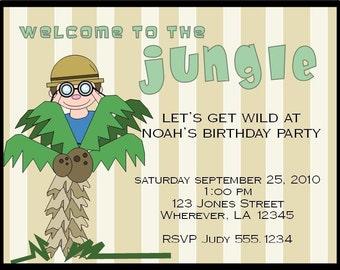 Jungle Birthday Invitation