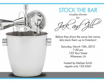Stock The Bar Shower Invitation