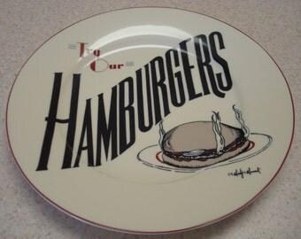 Marty Mummert Hamburgers Plate