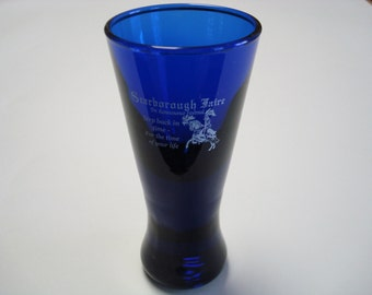Scarborough Faire Blue Glass Shot or Cordial Glass