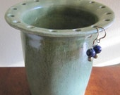 Spearmint green pottery earring holder