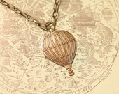 E r i n - Antique Silver Brass Balloon Charm Necklace, LAST ONE