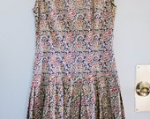 VINTAGE 70s handmade paisley women's dress